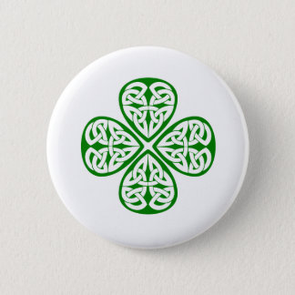 Badge Rond 5 Cm noeud vert de celtic de shamrock