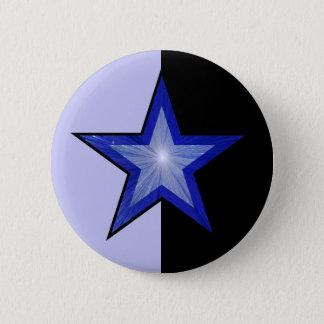 Badge Rond 5 Cm Noir bleu-clair de bouton bleu-foncé d'étoile