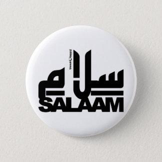 Badge Rond 5 Cm Noir de Salaâm