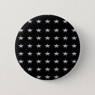 Badge Rond 5 Cm Noir d'étoiles chanceuses avec la conception