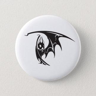 Badge Rond 5 Cm Noir d'illustration de style de tatouage de battes