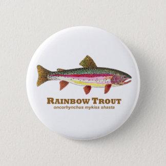 Badge Rond 5 Cm Nom de latin de truite arc-en-ciel