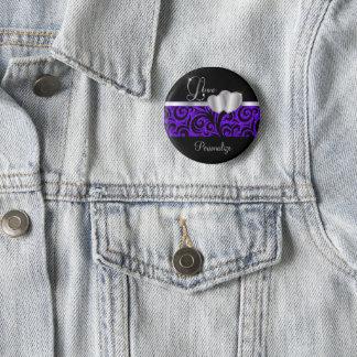 Badge Rond 5 Cm Nom pourpre élégant de l'amour | do-it-yourself de