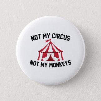 Badge Rond 5 Cm Non mon cirque