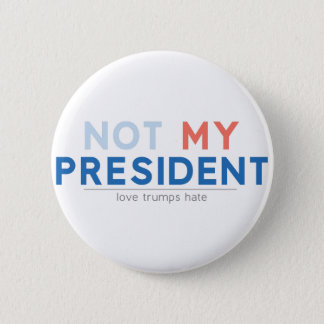 Badge Rond 5 Cm Non mon président