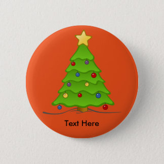Badge Rond 5 Cm Norme d'étoile d'arbre de Noël, bouton rond de