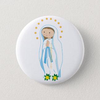 Badge Rond 5 Cm Notre Madame de Lourdes