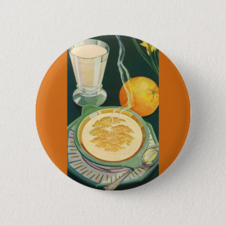 Badge Rond 5 Cm Nourritures biologiques vintages, boissons, petit