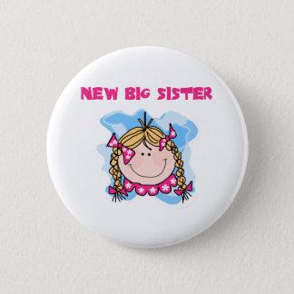 Badge Rond 5 Cm Nouvelle grande soeur de fille blonde
