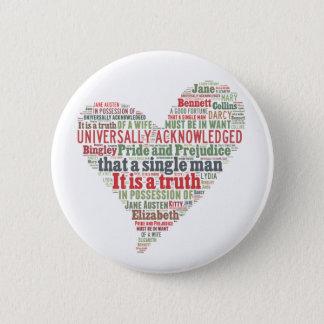 Badge Rond 5 Cm Nuage de mot de fierté et de préjudice