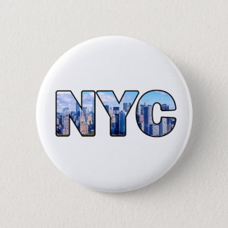 BADGE ROND 5 CM NYC