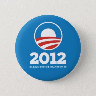 "Badge Rond 5 Cm Obama ""2012"" bornes de bouton"