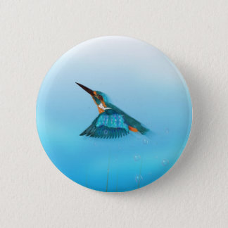 Badge Rond 5 Cm Oiseau de martin-pêcheur