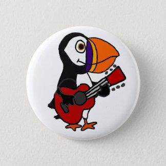 Badge Rond 5 Cm Oiseau drôle de macareux jouant l'illustration de