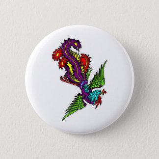 Badge Rond 5 Cm Oiseau du paradis