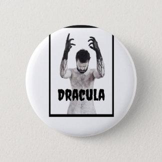 Badge Rond 5 Cm Ombre ronde foncée de bouton de Dracula du jour