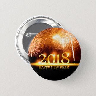 Badge Rond 5 Cm Or bouton de 2018 feux d'artifice de bonne année