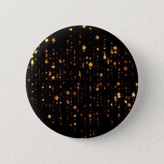 Badge Rond 5 Cm or brillant d'étoiles