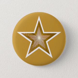 """Badge Rond 5 Cm Or de bouton d'étoile de """"or"""""""