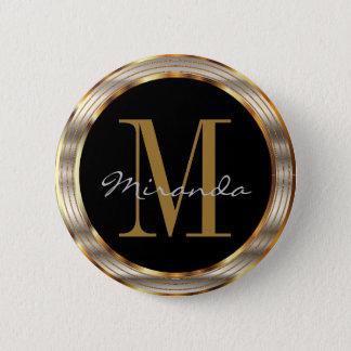 Badge Rond 5 Cm Or décoratif et métallique argenté avec le texte