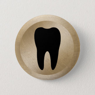 Badge Rond 5 Cm Or dentaire de dent de dentiste de bureau