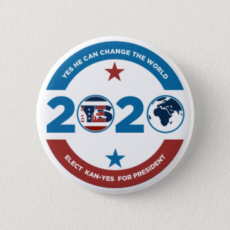 Badge Rond 5 Cm Oui il Kan - oui 2020