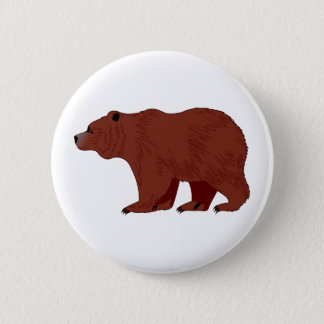 Badge Rond 5 Cm Ours gris