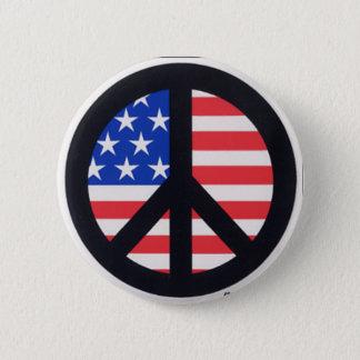 Badge Rond 5 Cm Paix américaine