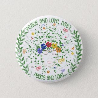 Badge Rond 5 Cm Paix et amour, bébé…