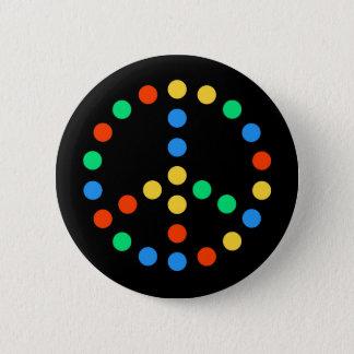 Badge Rond 5 Cm Paix LED
