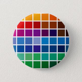 Badge Rond 5 Cm palett de code d'arrière - plan de motif de