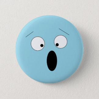 Badge Rond 5 Cm Pâlissez le bouton souriant idiot choqué étonné de