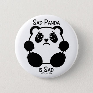 Badge Rond 5 Cm Panda triste