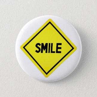 Badge Rond 5 Cm Panneau routier de sourire