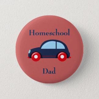 Badge Rond 5 Cm Papa de Homeschool de voiture