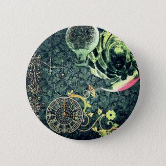 Badge Rond 5 Cm Papier peint vintage de Steampunk