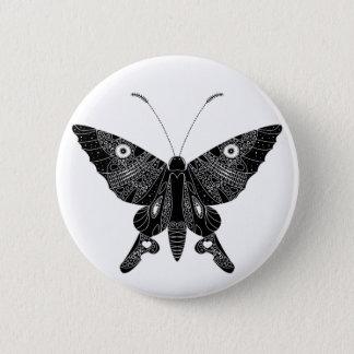 Badge Rond 5 Cm Papillon