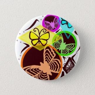 Badge Rond 5 Cm Papillons de danse