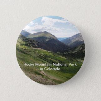 Badge Rond 5 Cm Parc national de montagne rocheuse