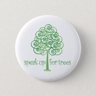 Badge Rond 5 Cm Parlez pour des arbres - arbre Hugger