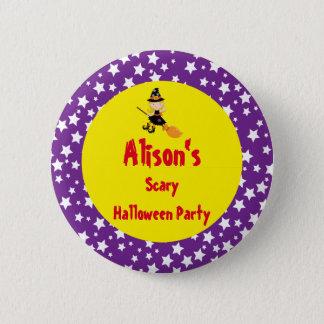 Badge Rond 5 Cm Partie blonde mignonne de Halloween de sorcière