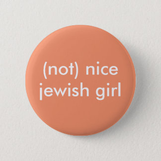 Badge Rond 5 Cm (pas) bouton juif intéressant de fille