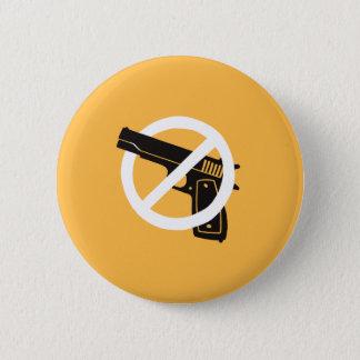 Badge Rond 5 Cm Pas plus d'armes à feu (bouton - jaune)