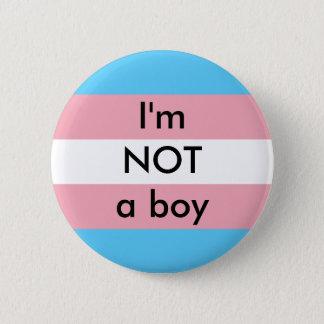 Badge Rond 5 Cm Pas un garçon