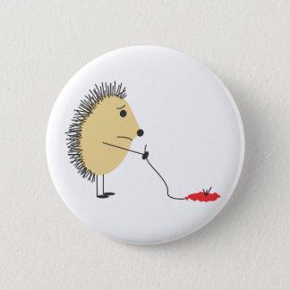 Badge Rond 5 Cm Pauvre petit hérisson