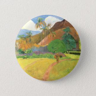 Badge Rond 5 Cm Paysage de Tahitian, montagnes Tahiti, Paul