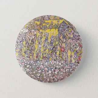 Badge Rond 5 Cm Paysage horticole avec un sommet