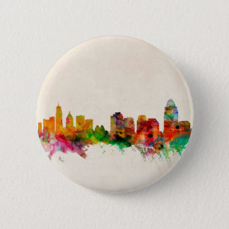 Badge Rond 5 Cm Paysage urbain d'horizon de Cincinnati Ohio