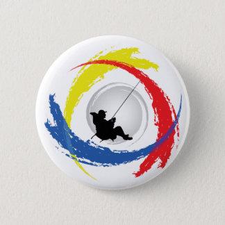 Badge Rond 5 Cm Pêche de l'emblème tricolore