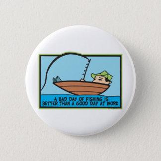 Badge Rond 5 Cm Pêcheur drôle